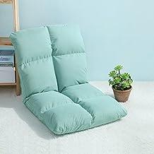 wysm Sofá perezoso solo 54 * 105 * 13cm dormitorio plegable silla de la espalda de la computadora del dormitorio de la cama ( Color : Verde )