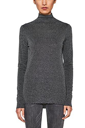 ESPRIT Damen Langarmshirt 117EE1K027, Schwarz (Black 001), Medium