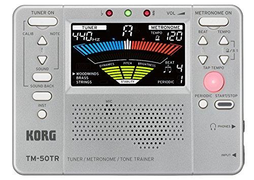 Korg TM50TRBK Trainer Metronom silber