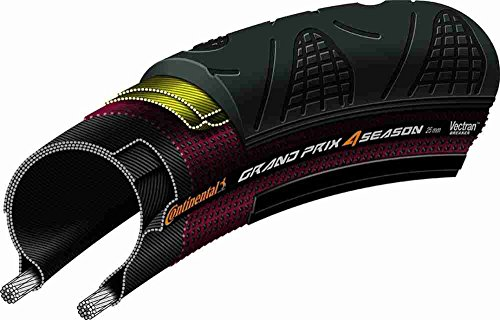 Continental Rennrad - Reifen Grand Prix 4-Season Double Vectran Breaker + DuraSkin, black-black duraskin foldable, 700 x 23C, 100173 (Extreme Mountain Bike)