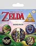 Pyramid International The Legend of Zelda Ensemble de Badges - Multicolore - 10x12,5x1,3cm