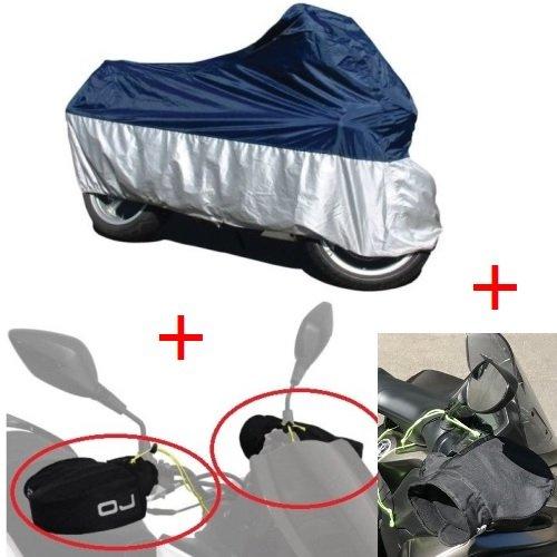 Bleu//Argent Outdoor B/âche de protection XL 246/X 105/X 127/Cm pour roller//Moto