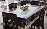 #6: Pindia 4 Seater 40 x 60 inch Golden Border Plain Transparent Waterproof Center Table Cover Sheet Mat PVC plastic