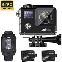 YDI 4K G80 Caméra Sport 30M Étanche Caméscope d'Action WiFi 20MP Ultra HD 170° Grand Angle avec Rechargeable Télécommande et 2 Batteries