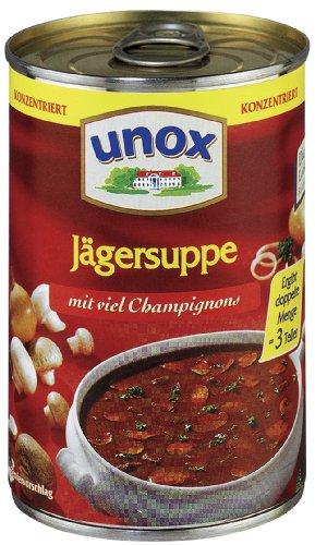 Preisvergleich Produktbild Unox Konzentrat Jäger Suppe 3 Teller,  6er-Pack (6 x 382 ml)