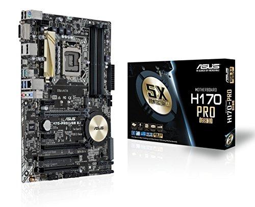 Asus H170-PRO Scheda Madre, USB 3.1, Nero