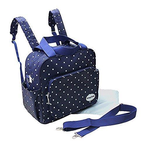 Preisvergleich Produktbild GMMHL 2 tlg Baby Rucksack Wickeltasche Pflegetasche Windeltasche Babytasche Reise Farbauswahl (blau)