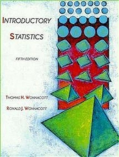 Introductory Statistics (Wiley Series in Probability and Mathematical Statistics. Applied probabilitY and Statistics)