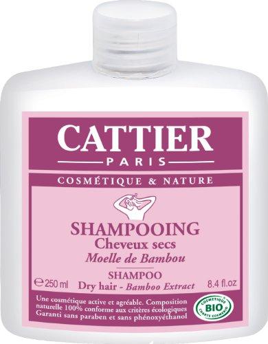 Cattier Shampooing Cheveux Secs Moelle de Bambou 250 ml Lot de 2