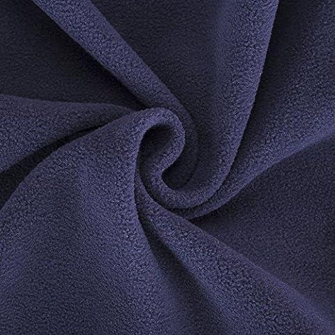 Neotrims Knit Rib Fabric & Cuffs - Tessuto in pile di qualità, finitura anti-pallini conforme alle norme internazionali,  in 21 colori moda, peso medio: grammatura 320 g, adatto per abbigliamento, decorazione casa e lavori di artigianato L'alternativa vegana alla lana. Prezzo all'ingrosso. 1 metro 4. Navy Blue