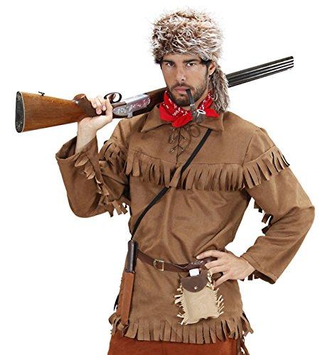 Kostüm Trapper Fallensteller Jacke + Fellmütze Pelztierjäger Western (Kostüm Trapper)