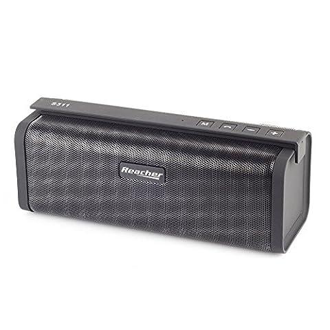 Haut-parleurs Bluetooth Portable Reacher avec Radio FM, micro intégré, support