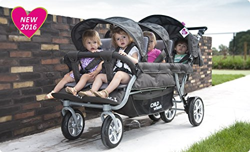 Childwheels Sechslingswagen für Tagesmütter / Krippen - neu mit Autobrake