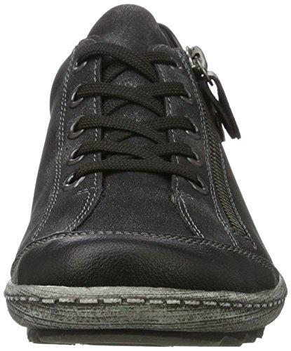 Remonte Damen R1402 Sneaker Schwarz (Schwarz/Graphit 02)