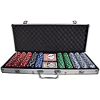SAVINGPLUS 500 CASINO POKER CHIPS SET TEXAS NEW CARD GAME 5 DICE WITH ALUMCASE