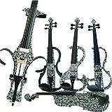 Aliyes Bois Violon électrique Taille complète 4/4Advanced intermédiaire Electric Silencieux pour violon (Alkit-002) ALSDDS-1309