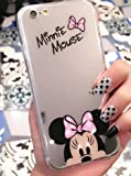Coque iPhone 6/6S Minnie Disney effet miroir rose