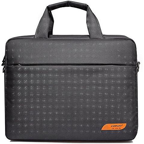 Portátil Bolsa de hombro awland multifuncional MacBook Air/Pro Retina de W de nylon impermeable bolsa de transporte maletín para portátiles de bolso de mano bolso de mano Funda de Ordenador Portatil para ordenador de 15–15.6inch Laptop, gris, 15-15.6