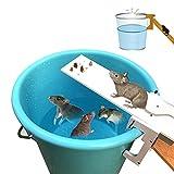 Pawaca Piège à souris, Walk Le piège de la souris Plank Réinitialisation automatique piège à rongeurs, attrape-souris humain, ne tue pas - Écologique et réutilisable
