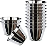 Happy Friends - Pudding Moulds - Stainless Steel - Set of 12 - Ø 7 cm