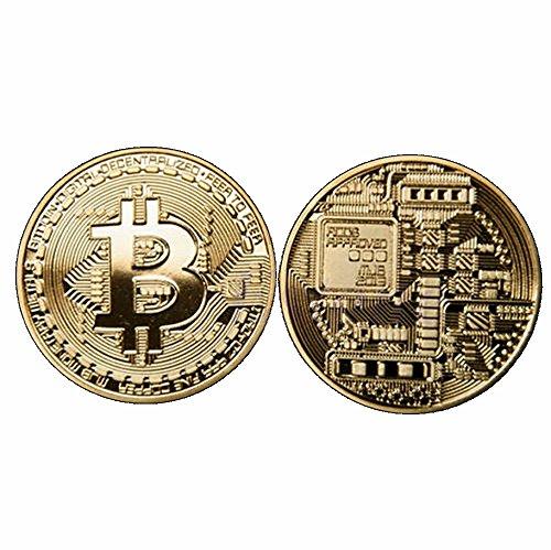Preisvergleich Produktbild GoDUB BITCOIN Münze - Medaille - Sammlermünze 1 oz/unze 999 Kupfer vergoldet (Gold)