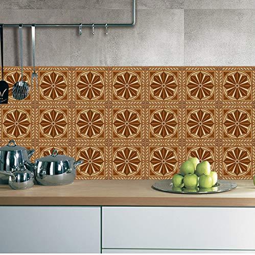 BVTYGH 20x100 cm barock emulierten holzboden Retro Fliesen PVC Regenschirm küche Wandaufkleber Home...