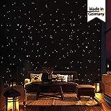 Wandtattoo-Loft 350 Punti Luce e Stelle Luminose per Cielo Stellato – Autoadesivo e Fluorescente - extra Robusto Luminosità