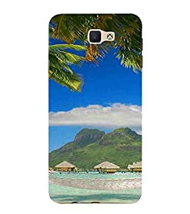 Beach, Blue, Mountain, Swimming Pool, Printed Designer Back Case Cover for Samsung Galaxy J7 Prime (2016)