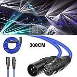 Câble Microphone Mâle vers Femelle Câble XLR Audio, 8M - Câble d'éclairage de...