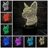 WJPDELP-YEDE Faule gehende Katze der Reihe 3D der Katze Katze färbte Nachtlichtlampe Kinderweihnachtsgeschenk-Tischdekorationlicht-USB-Noten