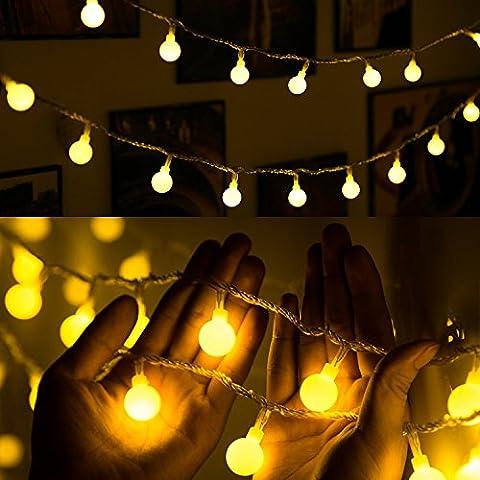 fourHeart LED Globe String Lights - Blanc Chaud (USB)
