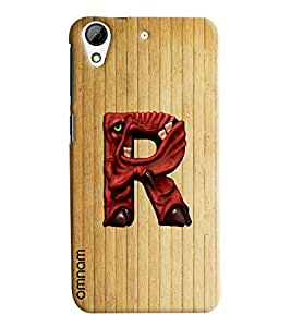 Omnam Single Name Stylish Alphabet R Printed Designer Back Cover Case For HTC Desire 728