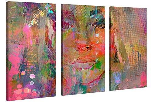 k 120x80 cm (3 x 80x40 cm) – Thoughtful Girl – XXL Kunstdruck auf Leinwand auf 2 cm Holz-Keilrahmen – Handgemachte Fotoleinwand in Deutsche Markenqualität für Wohn- & Schlafzimmer von Joe Ganech x Gallery of innovative Art (Inspirierende Wand-dekor)