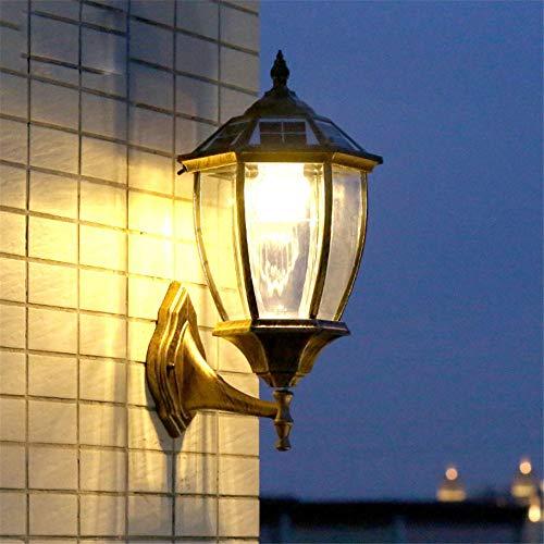 Vintage Solar Led Wandlampe Taverne Villa Haus Im Freien Wasserdichte Dekoration Wandleuchten 450X240Mm Bronze - Bronze Vintage Wandleuchte
