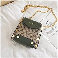 WYN123 La Sra. Messenger Bag Antigua Cadena de Flores Shell Retro Bolso del teléfono móvil