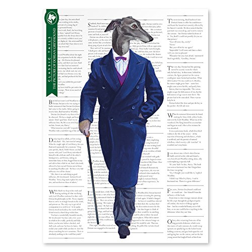 The Picture Of Dorian Greyhound Beautifully Illustrated Poster Print