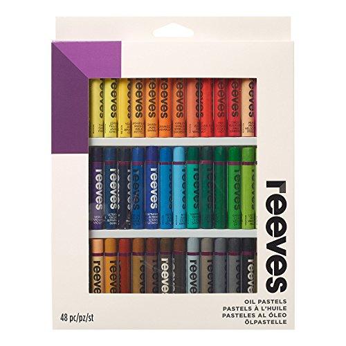 Reevespastelli a olio, multicolorati, altro, multicolour, pack of 48