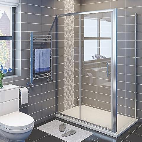 1600 x 800 mm Sliding Shower Enclosure 6mm Glass Reversible