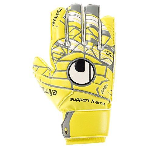 uhlsport Herren ELM Unlimited Soft SF JUNIOR Torwart-Handschuhe, LITE Fluo gelb/Griffin gr, 8.0