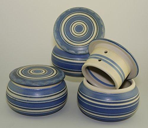 original französische wassergekühlte keramik butterdose, immer frische und streichzarte butter zum...