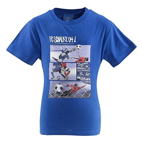 FC Schalke 04Comic Kids–Camiseta, Azul, 128
