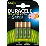 Duracell AAA Rechargeable Ultra Type Batteries 850 MAh,, Pack Of 4
