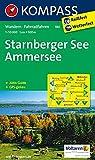 Starnberger See, Ammersee 1 : 50 000: Wandelkaart 1:50 000 (KOMPASS-Wanderkarten, Band 180)