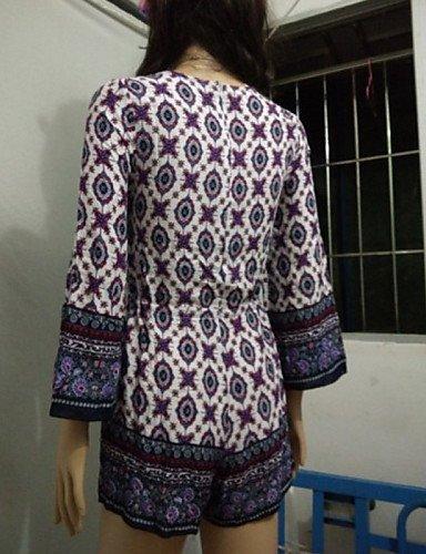 GSP-Combinaisons Aux femmes Manches Longues Vintage Coton Moyen Micro-élastique dark gray-m