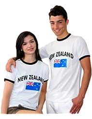 BRUBAKER Neuseeland Fan T-Shirt Weiß Gr. S - XXXL