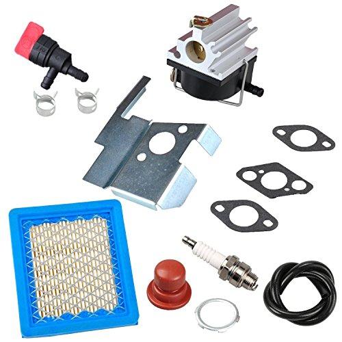 OxoxO 632671 Carburetor Carb Kit Air Filter Spark Plug Primer Bulb Fuel  Shut-Off Valve for Tecumseh 632671A 632671B 632671C VLV126 VLV60 VLV40 Toro