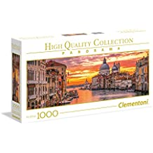 Clementoni - High Quality Collection Panorama Puzzle the Grand Canal - Venice, 1000 Pezzi, 39426
