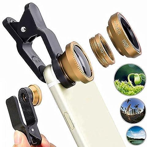 Lg Prada Ii Camera Kit Pro Comme Photographie - 3 en 1 Fish Eye, Grand angle et macro avec Universal 180 degrés clip sur [Recto / Verso Caméra Compatible]