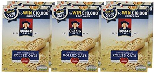 Quaker Porridge Rolled Oats, 1 kg (Pack of 6)