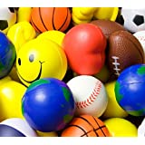 Variety Pack of 5 Assorted Stress Ball Shapes
